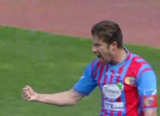 Mariano Izco quando vestiva la maglia del Catania