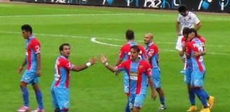 Catania festeggia gol