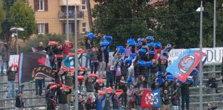 Tifosi Catania a Chiavari