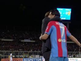 Dario Marcolin e Riccardo Maniero, abbraccio