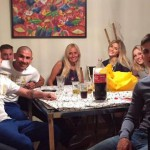 Gaston Sauro con ex compagni al Boca Juniors