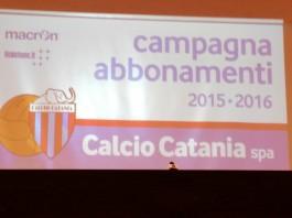 Catania, Campagna Abbonamenti