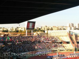 Catania vs Akragas, tifosi in Curva Nord