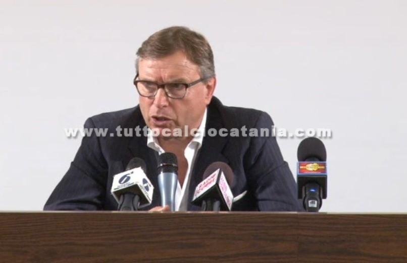 Calcio Catania, presentati i nuovi dirigenti Lo Monaco sceglie Argurio, Marino, Failla