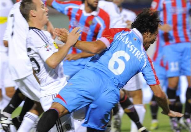 Silvestre in azione, Catania vs Cesena