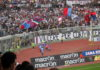 Esultanza Catania in Curva Nord