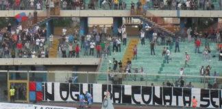 Esultanza Catania in Curva Sud