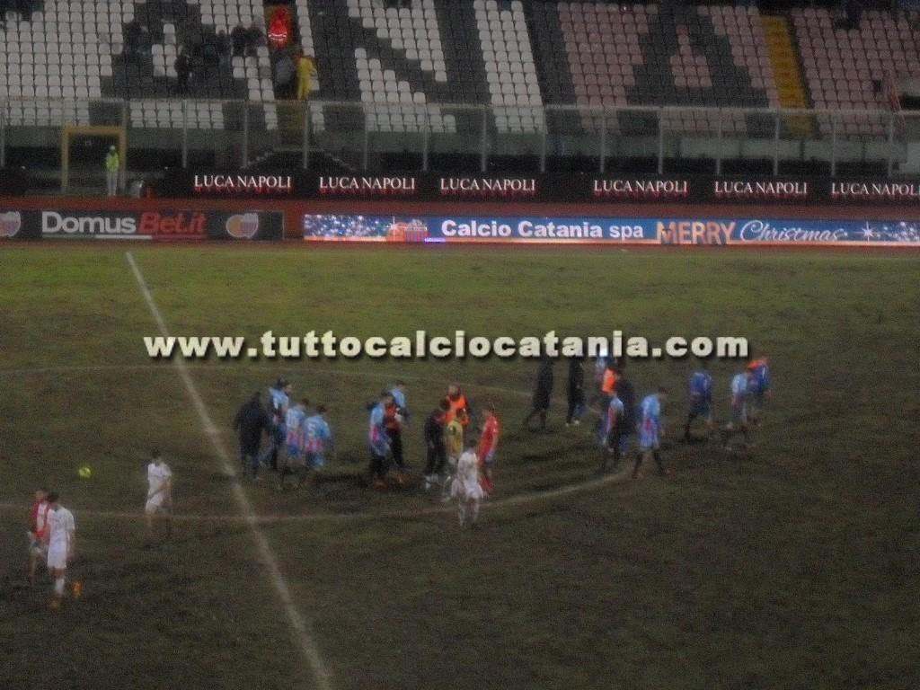 Catania-Casertana 1-0. Arriva il settimo sigillo consecutivo nel fango del Massimino