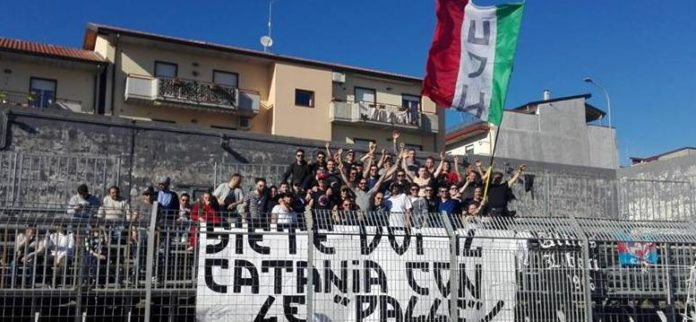 Catania striscione Curva Nord