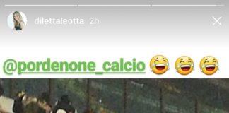 Striscione per Diletta Leotta