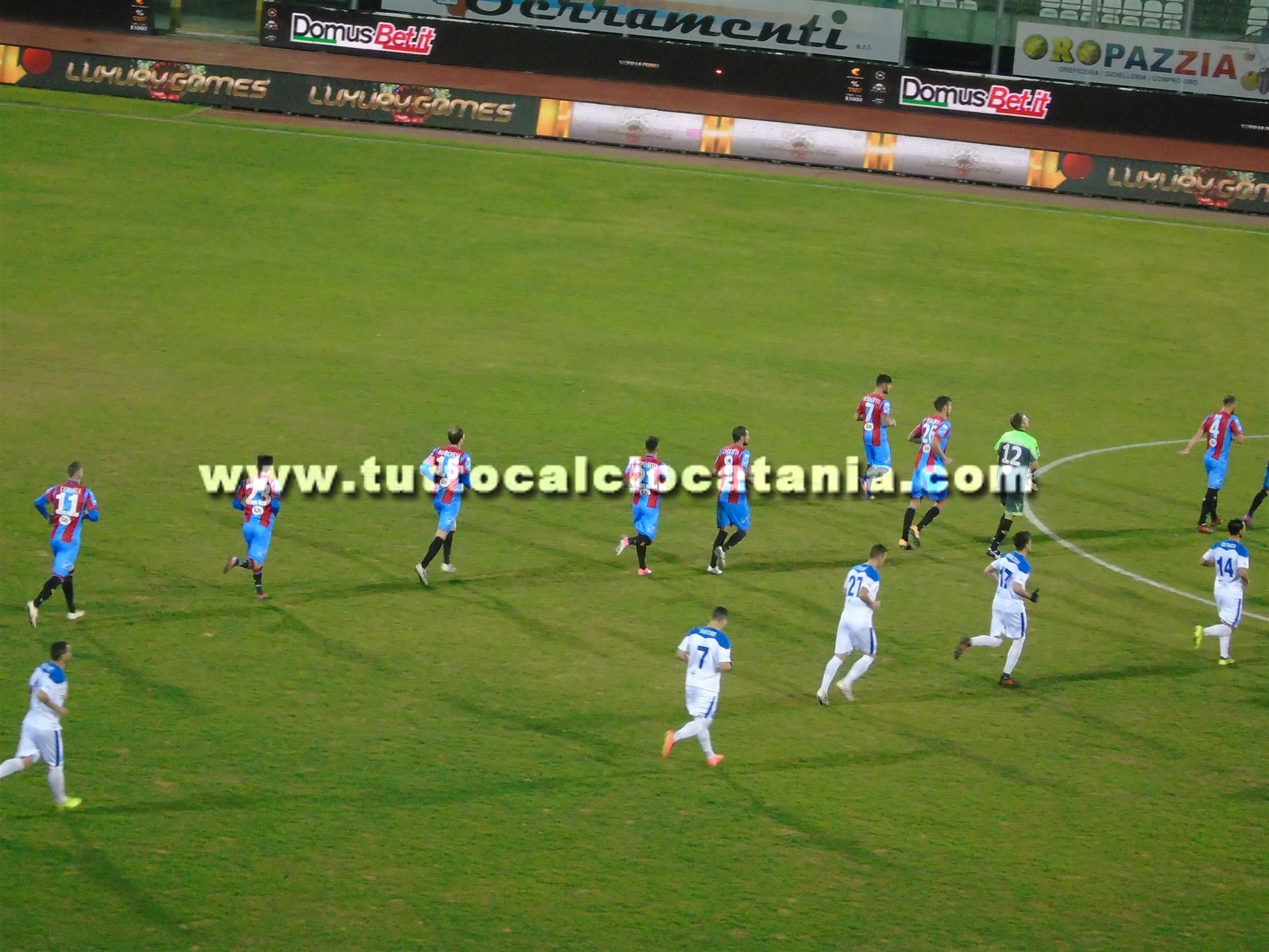 Rende-Catania 0-3: Ripa e Curiale devastanti