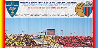 Copertina Lecce vs Catania